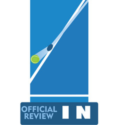 Tennis official review vector