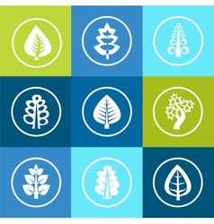 trees icons vector image