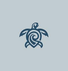turtle logo concept vector image