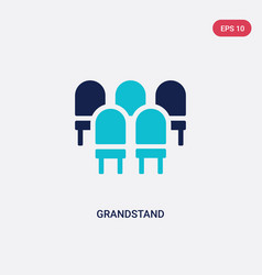 Two color grandstand icon from education concept vector