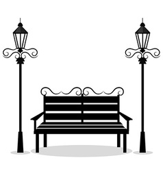 Urban park design vector