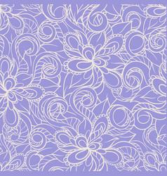 Violet floral pattern vector