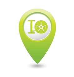 wheel pump icon map pointer green vector image