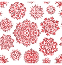 Winter seamless pattern with beautiful snowflakes vector