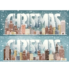 Winter urban landscape City vector image