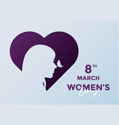 Women day greeting card background vector