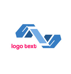 hand icons logo symbol vector image vector image