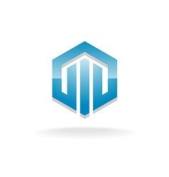 Hex industrial logo vector image vector image