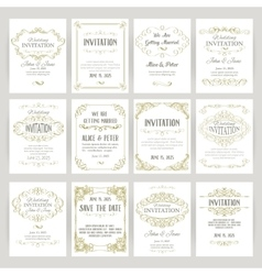 templates with banners vintage design elements vector image vector image