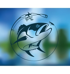 tuna logo vector image vector image