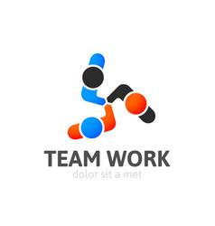 handshake abstract logo design template vector image