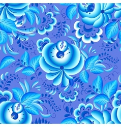 Ornate blue and white floral pattern vector image vector image