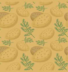 potatoes seamless pattern praties endless vector image vector image
