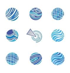 Blue Abstract Logos vector image