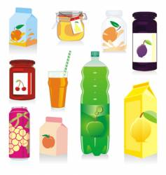 fruit drink containers vector image vector image