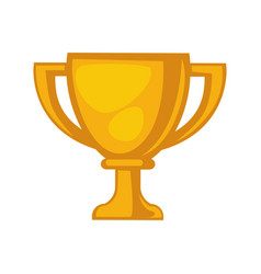 golden trophy cup isolated on white close up vector image vector image