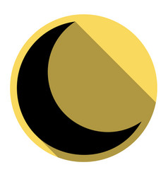 moon sign flat black icon vector image