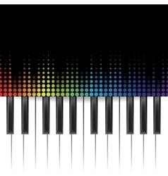 Piano template vector image