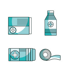 set first aid tools to help people vector image vector image