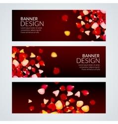Rose Petals wedding love banners vector image vector image