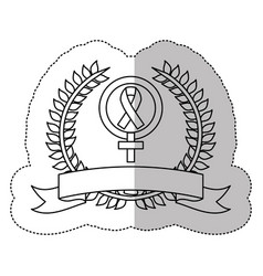 symbol breast cancer ribbon image vector image