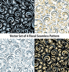 Traditional Russian pattern frames set in vector image