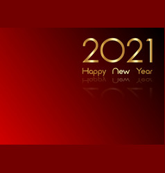 2021 new year gold numbers logo business template vector image