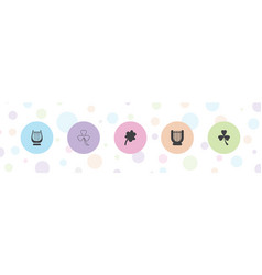 5 irish icons vector