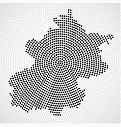 abstract map beijing radial dots halftone vector image