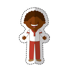 african little boy character vector image