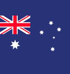 australia flag australian cross with star vector image