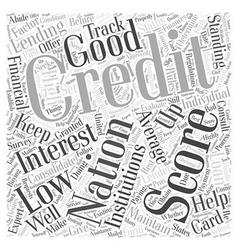 Average credit national score Word Cloud Concept vector