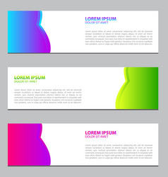 banner design for businessmodern designte vector image