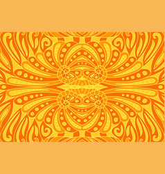 beautiful art with orange seamless fiery pattern vector image