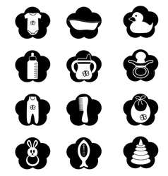 Black and white stuff for baby vector image