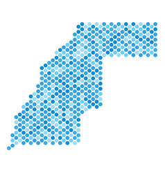 Blue dot western sahara map vector