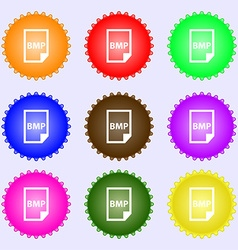 BMP Icon sign Big set of colorful diverse vector