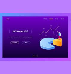 Business analysis - modern isometric web vector