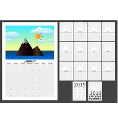 calendar for 2019 vector image