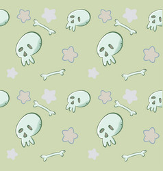 cartoon skull pattern vector image