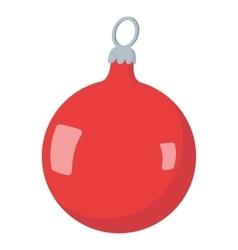 Christmas ball cartoon icon vector
