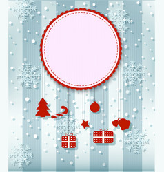 Christmas card with big space for your advertisi vector image