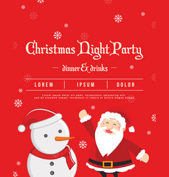 Christmas night party poster style vector