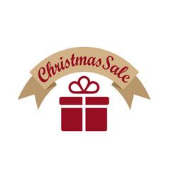 Christmas sale banner on vector