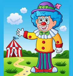 clown theme picture 9 vector image