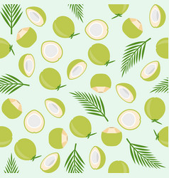 Coconut seamless pattern island theme for vector