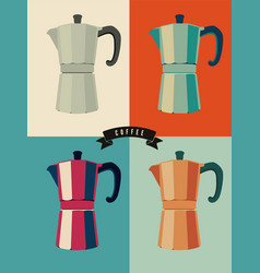 Coffee vintage pop-art style poster vector