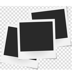 collage of realistic photo frames isolated vector image