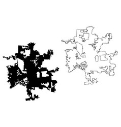 columbus city map vector image