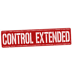 control extended sign or stamp vector image